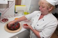 Dessert preparing